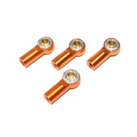 Absima Alu Rose Joints/Turnbuckles (4) orange 1:10