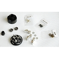 Clutch Bell  COMBO SET(Clutch bell 13T with vented*1+ Bearing 5*10 ( 2pcs) + 34 mm Flywheel (Black)*1 + 3pc Type cluth shoe (Alum) with 3 differ