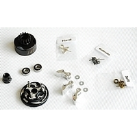 Clutch Bell  COMBO SET(Clutch bell 14T with vented*1+ Bearing 5*10 ( 2pcs) + 34 mm Flywheel (Black)*1 + 3pc Type cluth shoe (Alum) with 3 different s
