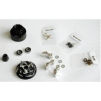 Clutch Bell  COMBO SET(Clutch bell 17T with vented*1+ Bearing 5*11 ( 2pcs) + 34 mm Flywheel (Black)*1 + 3pc Type cluth shoe (Alum) with 3 different sp
