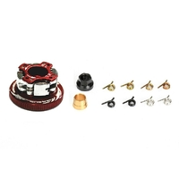 4 Shoe Clutches Combo Set:4 Shoe Clutches +1.0mm Spring(3 types of Springs)+Clutch Nut+Clutch Spring Bush*4+Clutch Plate+34mmFlywheel(Black)