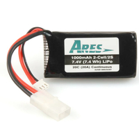 ARES AZSB10002S20T 1000MAH 2-CELL/2S 7.4V 20C LIPO BATTERY. TAMIYA CONNECTO