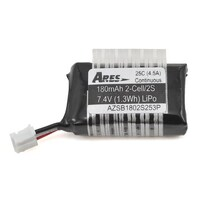 ARES AZSB1802S253P 180MAH 2-CELL/2S 3.7V 25C LIPO BATTERY. 3-PIN CONNECTOR: