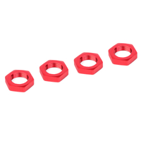 Team Corally - Wheel Nut - Aluminum - Ribbed - 4 pcs