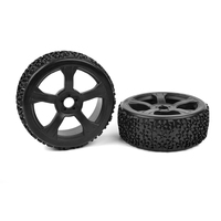 Ninja 1/8 offroad buggy wheels & tyres pre glued pair