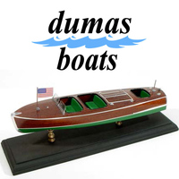DUMAS 1703 CHRIS-CRAFT TRIPLE.COCKPIT BARREL BACK 13-1/2 inches Beam 3-3/4 inches Scale 1/24th