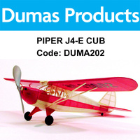 DUMAS 202 PIPER J4-E CUB COUPE WALNUT SCALE 17.5 INCH WINGSPAN RUBBER POWER