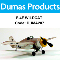 DUMAS 207 F-4F WILDCAT WALNUT SCALE 17.5 INCH WINGSPAN RUBBER POWERED