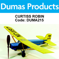 DUMAS 215 CURTISS ROBIN WALNUT SCALE 17.5 INCH WINGSPAN RUBBER POWERED