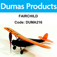 DUMAS 216 FAIRCHILD WALNUT SCALE 17.5 INCH WINGSPAN RUBBER POWERED