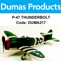 DUMAS 217 P-47 THUNDERBOLT WALNUT SCALE 17.5 INCH WINGSPAN RUBBER POWERED