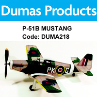 DUMAS 218 P-51B MUSTANG WALNUT SCALE 17.5 INCH WINGSPAN RUBBER POWERED