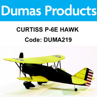 DUMAS 219 CURTISS P-6E HAWK WALNUT SCALE 17.5 INCH WINGSPAN RUBBER POWERED