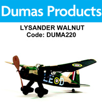 DUMAS 220 LYSANDER WALNUT SCALE 17.5 INCH WINGSPAN RUBBER POWERED