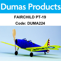 DUMAS 224 FAIRCHILD PT-19 WALNUT SCALE 17.5 INCH WINGSPAN RUBBER POWERED