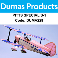 DUMAS 229 PITTS SPECIAL S-1 WALNUT SCALE 18 INCH WINGSPAN RUBBER POWERED