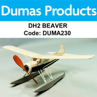 DUMAS 230 DH-2 BEAVER WALNUT SCALE 18 INCH WINGSPAN RUBBER POWERED
