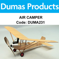 DUMAS 231 AIR CAMPER WALNUT SCALE 18 INCH WINGSPAN RUBBER POWERED