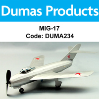 DUMAS 234 MIG-17 WALNUT SCALE 18 INCH WINGSPAN RUBBER POWERED