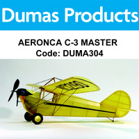 DUMAS 304 AERONCA C-3 MASTER 30 INCH WINGSPAN RUBBER POWERED