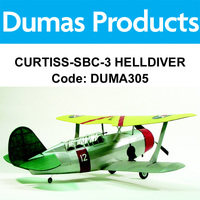 DUMAS 305 CURTISS-SBC-3 HELLDIVER 30 INCH WINGSPAN RUBBER POWERED