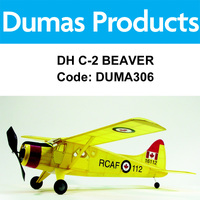 DUMAS 306 DH C-2 BEAVER 30 INCH WINGSPAN RUBBER POWERED