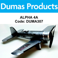 DUMAS 307 ALPHA 4A 30 INCH WINGSPAN RUBBER POWERED