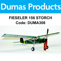 DUMAS 308 FIESELER 156 STORCH 30 INCH WINGSPAN RUBBER POWERED