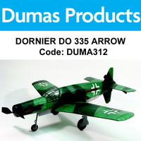 DUMAS 312 DORNIER DO 335 ARROW 30 INCH WINGSPAN RUBBER POWERED