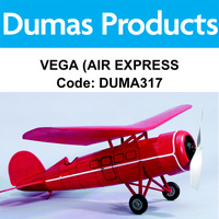 DUMAS 317 VEGA (AIR EXPRESS) 30 INCH WINGSPAN RUBBER POWERED