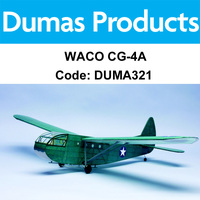 DUMAS 321 WACO CG-4A 30 INCH WINGSPAN RUBBER POWERED
