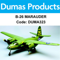 DUMAS 323 B-26 MARAUDER 30 INCH WINGSPAN RUBBER POWERED