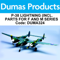 DUMAS 324 P-38 LIGHTNING (INCL. PARTS FOR F AND M SERIES) 30 INCH WINGSPAN