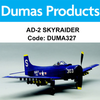 DUMAS 327 AD-2 SKYRAIDER 30 INCH WINGSPAN RUBBER POWERED