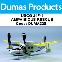 DUMAS 328 USCG J4F-1 AMPHIBIOUS RESCUE KIT 30 INCH WINGSPAN RUBBER POWERED