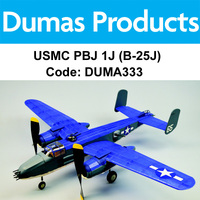 DUMAS 333 USMC PBJ 1J (B-25J) 30 INCH WINGSPAN RUBBER POWERED