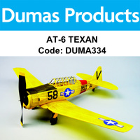 DUMAS 334 AT-6 TEXAN 30 INCH WINGSPAN RUBBER POWERED