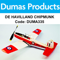 DUMAS 335 DE HAVILLAND CHIPMUNK 30 INCH WINGSPAN RUBBER POWERED