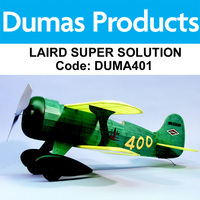 DUMAS 401 LAIRD SUPER SOLUTION 24 INCH WINGSPAN RUBBER POWERED
