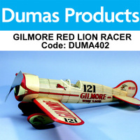DUMAS 402 GILMORE RED LION RACER 25 INCH WINGSPAN RUBBER POWERED