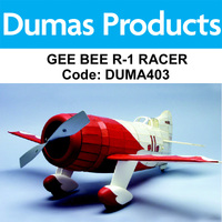 DUMAS 403 GEE BEE R-1 RACER 26 INCH WINGSPAN RUBBER POWERED
