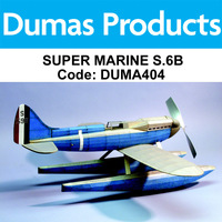 DUMAS 404 SUPER MARINE S.6B  RUBBER POWER 27 INCH WINGSPAN RUBBER POWERED