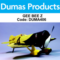 DUMAS 406 GEE BEE Z  RUBBER POWERED 29 INCH WINGSPAN RUBBER POWERED