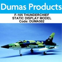 DUMAS 502 15 INCH WINGSPAN F-105 THUNDERCHIEF STATIC DISPLAY MODEL