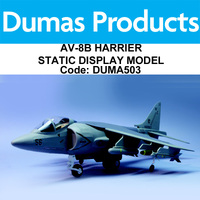 DUMAS 503 17 INCH WINGSPAN AV-8B HARRIER STATIC DISPLAY MODEL