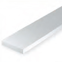 EVERGREEN 129 WHITE STYRENE STRIP .020 X .250 (PACK OF 10)