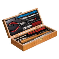 EXCEL 44289 EXCEL DELUXE RAILROAD TOOL SET IN WOOD BOX