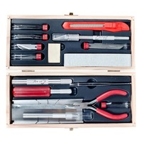 EXCEL 44291 EXCEL DELUXE SHIP MODELERS TOOL SET IN WOOD BOX