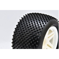 TT truck tyres mounted w/rims (4PCE)