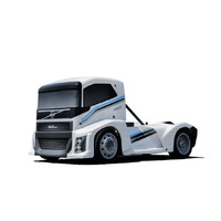 Hyper EPX 1/10 Semi Truck On-Road KIT, W/ Pearl White Paint body (Requires all electronics)
